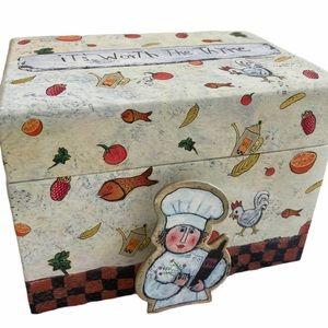 Recipe box by Barbara Olsen includes recipe clip